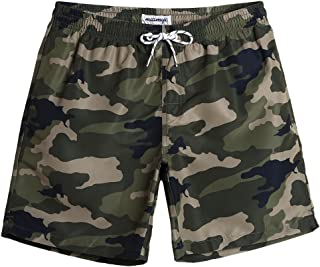 Mens Slim Fit Quick Dry Swim Shorts Swim Trunks Mens Bathing Suits with Mesh Lining