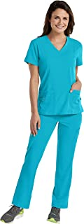 Med Couture Activate Women's Scrub Set Bundle- 8408 V-Neck Top & 8758 Cargo Pant