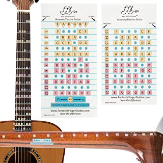 Fantastic Guitar Finger Guide - Frets 1-12 Fretboard Stickers for Electric & Acoustic Guitar