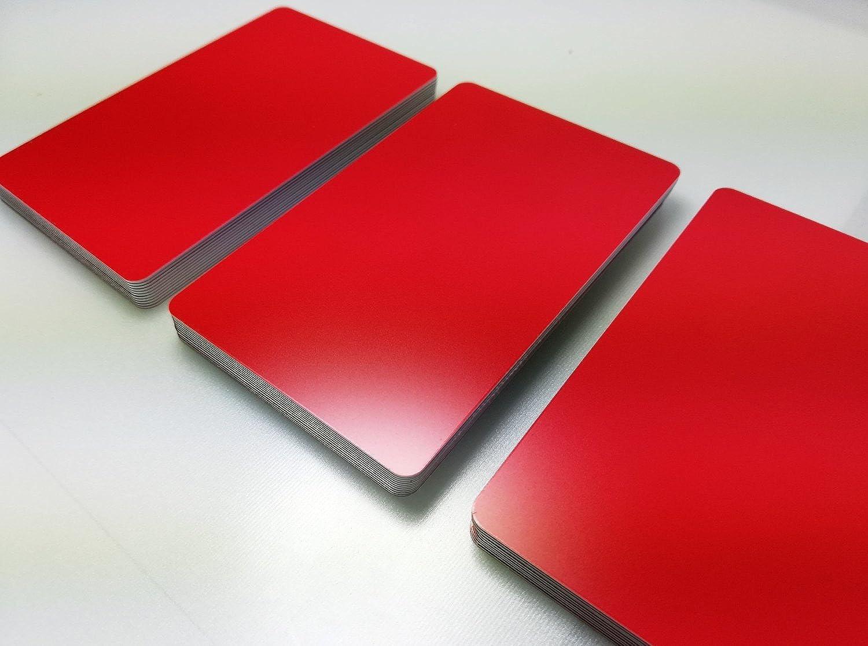 Premium Plastikkarten   PVC Karten ROT MATT   1-100 Stück   Blanko Rohlinge   NEU  (100) B07DYR8YFF    Reichlich Und Pünktliche Lieferung