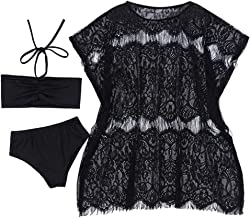 Agoky Girls Childrens 2-Pieces Gymnastics Dancing Outfits Swimsuit Polka Dot Top Bra Shorts Clothes Set