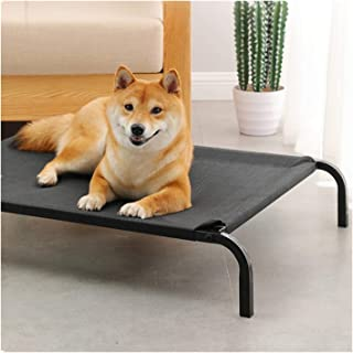 Bollysky Breathable Iron Art Dog Bed Detachable Camp Bed Kennel Elevated Pet Bed Cat/Dog Pet Cot Travel Bed Elevated Cooling Pet Bed