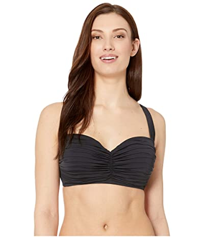 Bleu Rod Beattie Kore Shirred Bandeau Top (Black) Women