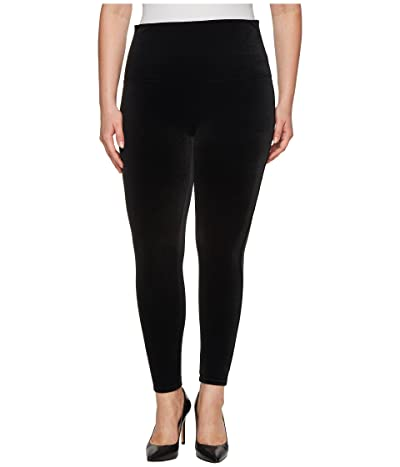 Spanx Plus Size Velvet Leggings (Black) Women