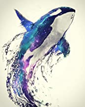 WOWDECOR 5D Diamond Painting Kits, Whale Dolphin Galaxy Starry Sky, Full Drill DIY Diamond Art Cross Stitch Paint by Numbers