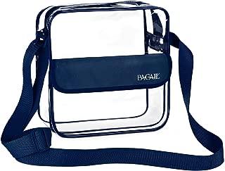 BAGAIL Clear Purse NFL &PGA Approved Cross-Body Shoulder Messenger Bag with Adjustable Strap