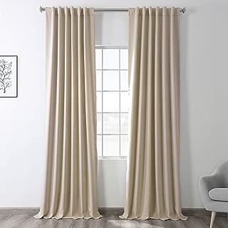 HPD HALF PRICE DRAPES BOCH-120601-96 Blackout Room Darkening Curtain, 50 X 96, Eggnog