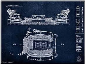 Heinz Field Blueprint Style Poster