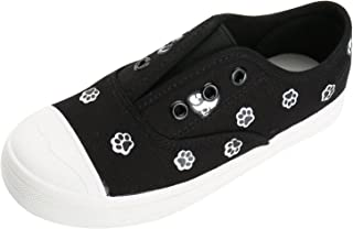Alexis Leroy Animal Foot Print Kid's Shoes Low Top Boys and Girls Slip On Canvas Sneakers