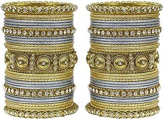 مجموعة أساور هندية من متش مور بتصميم تقليدي رائع مجموعة من أساور متعددة الألوان للنساء والفتيات للاستخدام اليومي