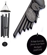 Personalized Wind Chime,Memorial Wind Chime Amazing Grace Tuned Soothing Melody Remembrance Wind Chimes for Mom Father Wind Chime