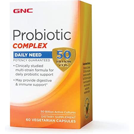 Amazon.com: GNC Probiotic Complex Daily Need with 50 Billion CFUs, 60  Capsules, Daily Probiotic Support: Health & Personal Care