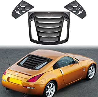 Rear and Side Window Louvers for 2003-2008 Nissan 350Z Matte Black ABS Window Visor Sun Shade Cover Vent