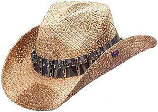ca191e64 Peter Grimm Ltd Men's Rex Camo Bullet Band Straw Cowboy Hat Brown One Size