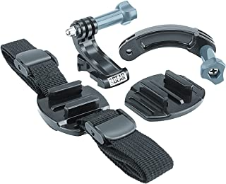 Action Camera Mount for Helmets with Quick-Release Straps & Extension Arm by USA Gear - Works with GoPro HERO6 Black, HERO5 Black/Session, AKASO EK7000, Contour ROAM3 & More Action Cameras
