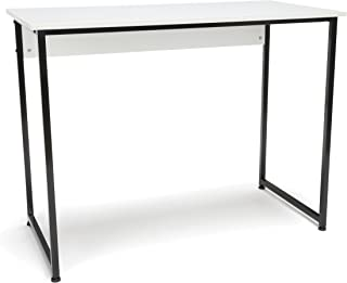 OFM Essentials Collection Office Desk with Metal Legs - Modern Computer Desk and Workstation, Black/White (ESS-1040-BLK-WHT)