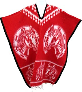 Authentic Mexican Poncho Reversible Cobija Blanket