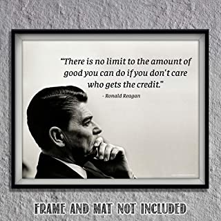 """No Limit To The Amount of Good You Can Do""- Ronald Reagan Quotes Wall Art-10 x 8"