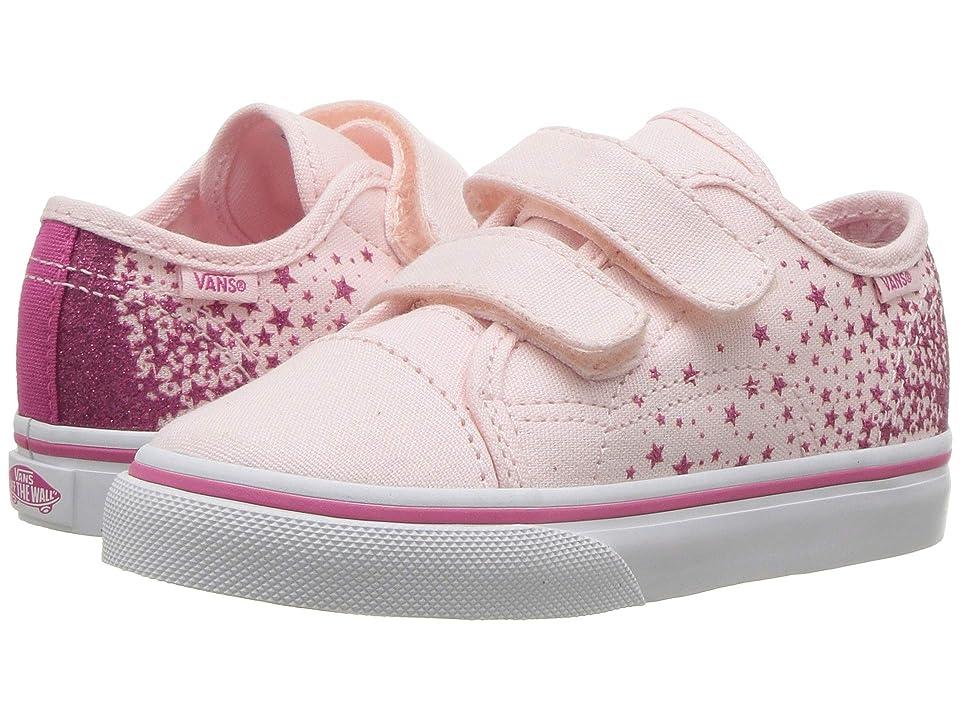 Vans Kids Style 23 V (Infant/Toddler) ((Glitter Star) Heavenly Pink/True White) Girls Shoes