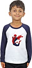 LIMIT Fashion Store - Spiderman Kids T-Shirt Casual Printed Colored Cotton T-Shirt(Boys & Girls)