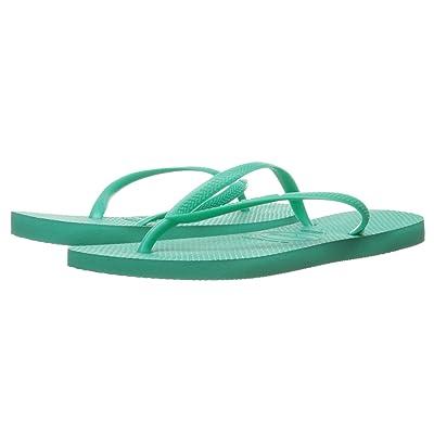 Havaianas Slim Flip Flops (Mint Green 1) Women
