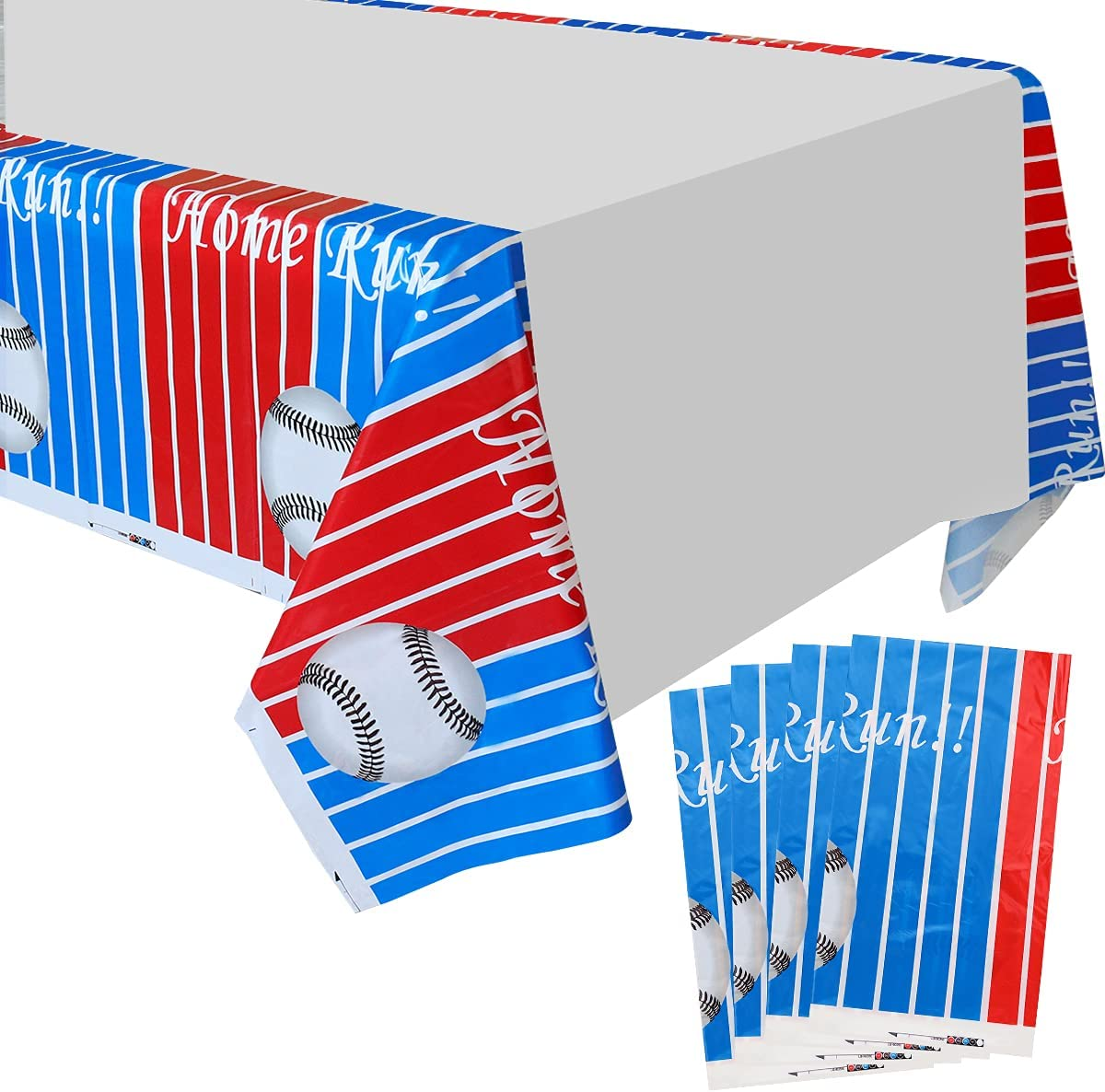 Baseball Table Covers Outlet ☆ Free Shipping - 86''x 51'' NEW Run P Printed Disposable Home