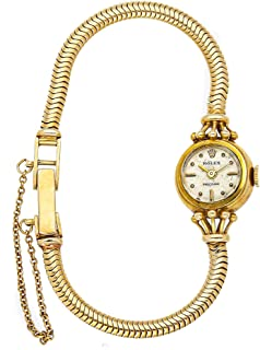 Vintage Mechanical (Hand-Winding) Silver Dial Womens Watch 8442 (Certified Pre-Owned)