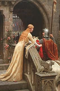 Edmund Leighton God Speed 1900 Oil On Canvas Painting Armored Knight Departing to War Cool Wall Decor Art Print Poster 24x36