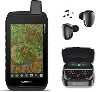 $619 » Garmin Montana 700 Rugged GPS Touchscreen Navigator with Wearable4U Ultimate Black Earbuds with Charging Power Bank Case B...