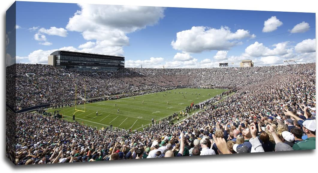 Choice Notre Dame - College Football 40x22 Wrapped Wal Gallery Canvas Bargain