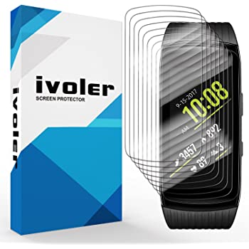 iVoler [8 Pack] Pellicola Protettiva Compatibile con Samsung Gear Fit 2 PRO, Wet Applied Protezione Schermo [Bubble-Free-Riutilizzabile] HD Clear Film in TPU