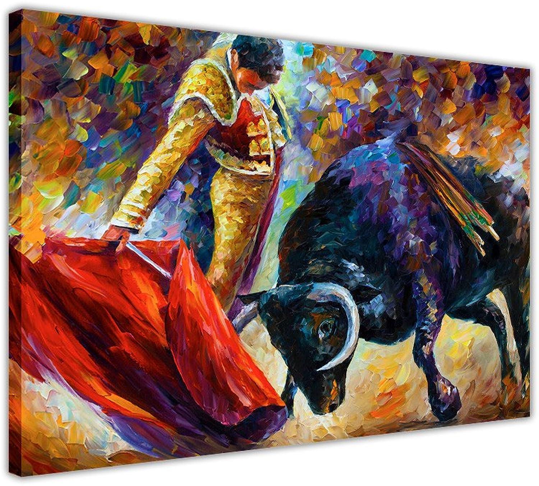 CANVAS IT UP UP UP Spanisch Bull Fight und Matador von Leonid Afremov auf Rahmen Leinwand Prints New Abstrakte Bilder Modern Art Größe  101,6 x 76,2 cm (101 x 76 cm) B017Z4SNHK d7bcc7