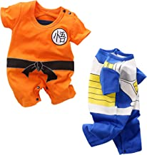 YFYBaby Baby Boys' 2 Pack Short Sleeve Romper Toddler Halloween Costume Outfits