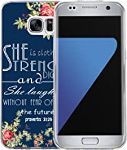 S6 Edge Case Christian for Girls, Hungo Soft TPU Silicone Protective Cover Compatible with Samsung Galaxy S6 Edge Cover Soft TPU Silicone Protective Christian Sayings Bible Verse
