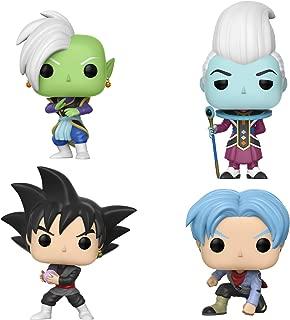 Dragon Ball Super Funko Pop! Amination - Set of 4 - Whis, Zamasu, Future Trunks, Goku Black
