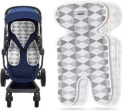 Luchild Atmungsaktive Sitzeinlage Universal Sommer Sitzauflage für Kinderwagen, Buggy, Kindersitz und Babyschale - Kühlt und schützt den Sitzbezug vor Flecken grau-Dünn