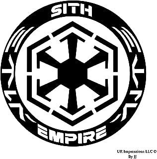 UR Impressions MBlk Sith Empire Decal Vinyl Sticker Graphics for Cars Trucks SUV Vans Walls Windows Laptop Tablet Matte Black 5.5 Inch JJURI002-MB