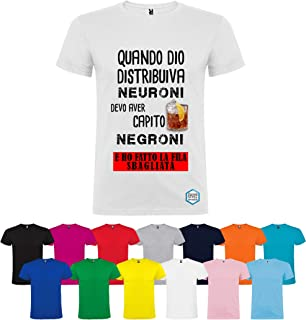 T-shirt personalizzata NEGRONI PER NEURONI diversi colori disponibili