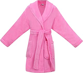 Image of Comfy Soft 2 Pocket Pretty Pink Robe for Girls - See More Colors