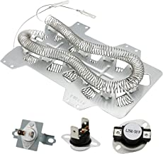 Vypart DC47-00019A Dryer Heating Element DC96-00887A & DC47-00016A Thermal Fuse DC47-00018A Thermostat Dryer Repair Kit for Samsung Kenmore Whirlpool Replaces 2068550