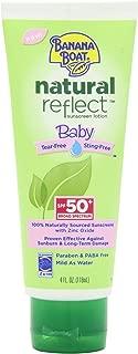 Banana Boat Natural Reflect Baby Sunscreen Lotion SPF 50, 4 Fluid Ounce