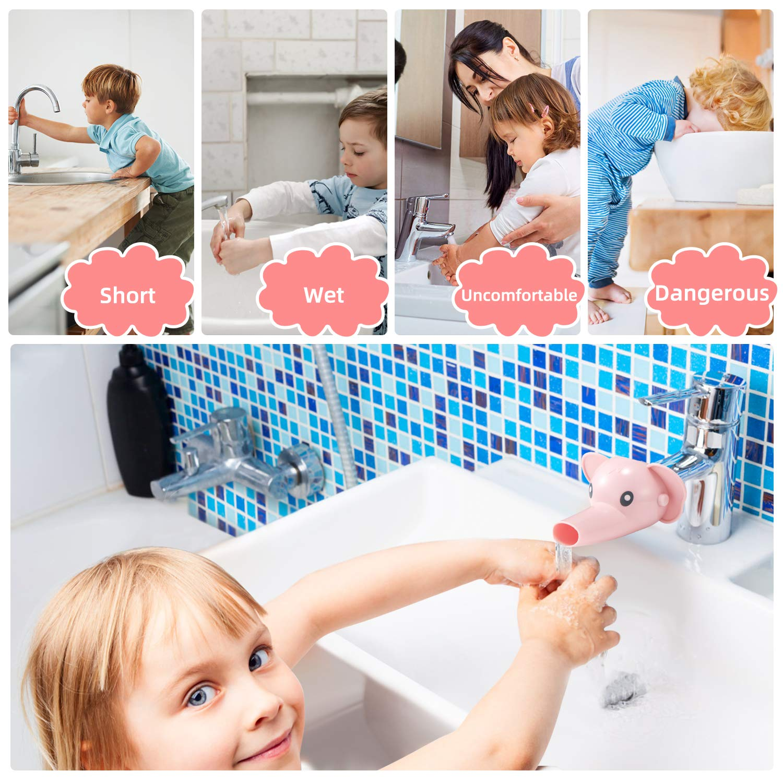 Faucet Extender for Toddlers (2 Pack)-Sink Extender for Kids (Blue)
