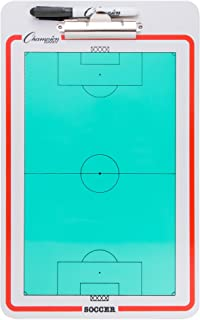 Champion Sports Large Dry Erase Board for Coaching - Whiteboards for Strategizing, Techniques, Plays - 2-Sided Boards with Clip, Multi-Sport