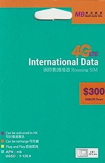 [MB]International Data 3GB 4G/3G 30日間 45ヶ国 データ通信SIMカード [並行輸入品]