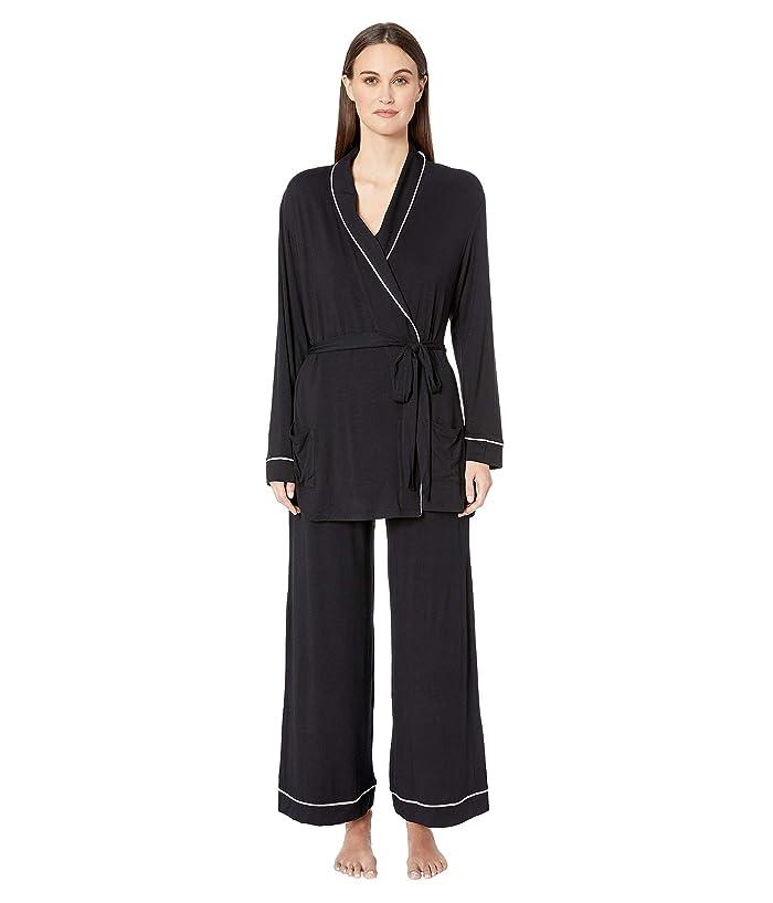 Eberjey Gisele The Nightcap Pajama Set (Black/Ivory) Women
