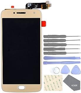 VEKIR Sostituzione dello Schermo in Vetro LCD Touch Vibram Motorola Moto G5 Plus (Oro)