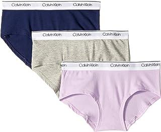 Calvin Klein Girls' Modern Cotton Hipster Underwear, Multipack