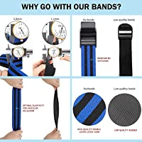 2 Pack Startcan Blood Flow High Elastic Farbric Exercise Bands