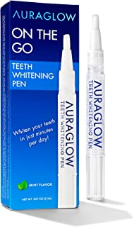 AuraGlow Teeth Whitening Pen, 35% Carbamide Peroxide, 15+ Whitening Treatments, No Sensitivity, 2mL