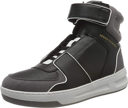 Armani exchange high top bicolor sneakers, scarpe da ginnastica uomo XUZ028XV254R625